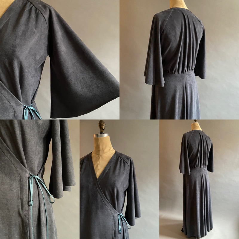Vegan Suede Dressing Gown