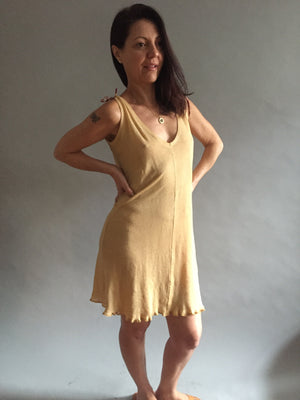 Banana Linen Knit Shortie Nightgown