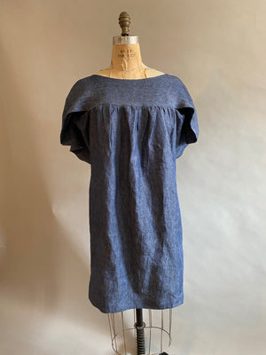 Pieces on SALE Denim Linen Angie Dress