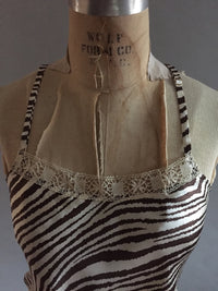 Silk Camisole with vintage lace neckline