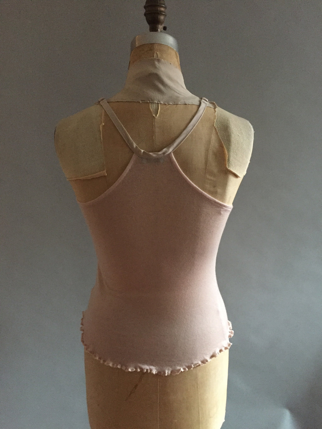 Soft pink knit camisole