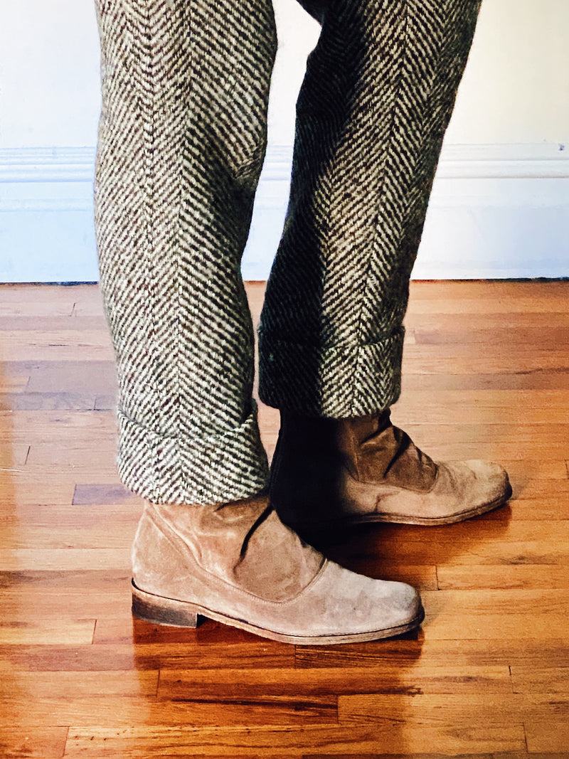 Wool Herringbone trousers