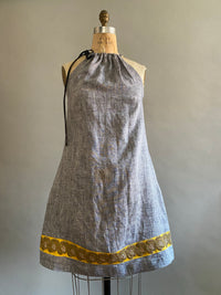Pieces on SALE Linen Bicycle Dress with Sequin Trim