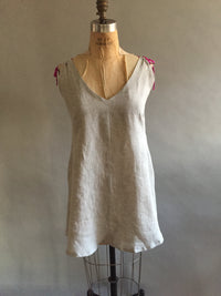 Gray handkerchief linen shortie nightie