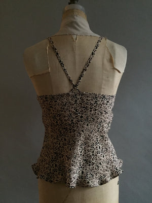 Silk Georgette Animal Print Camisole