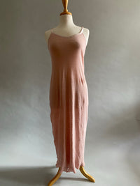Shell Pink Linen Knit Racerback Nightgown