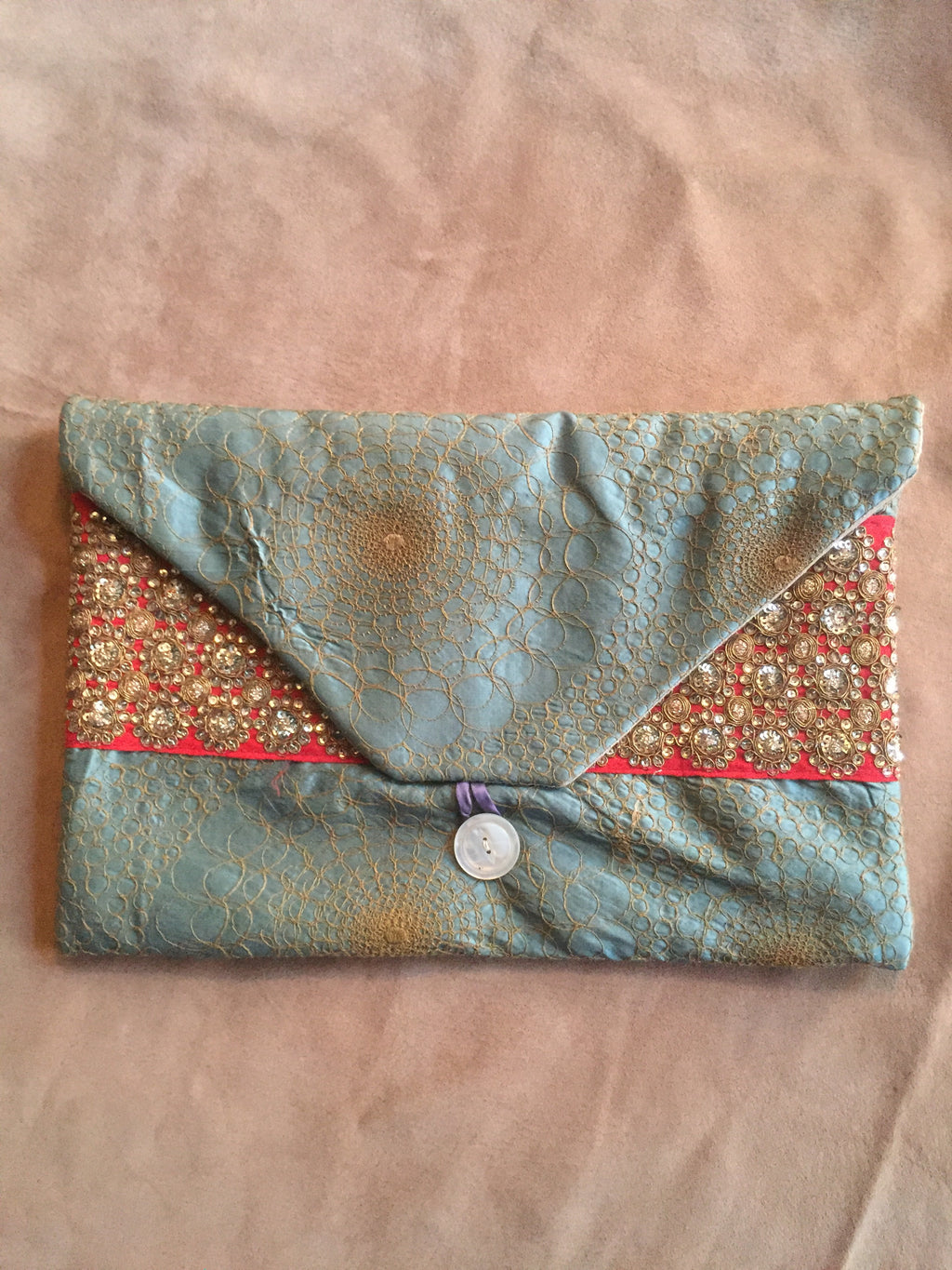 Embroidered Silk Lingerie Travel Bag