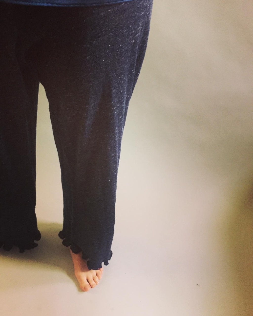 Navy Linen Knit Pajama Pants