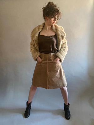 Fawn Suede Skirt