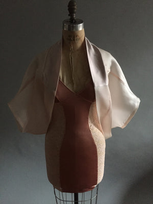 Silk Gazar Pale Pink Shrug