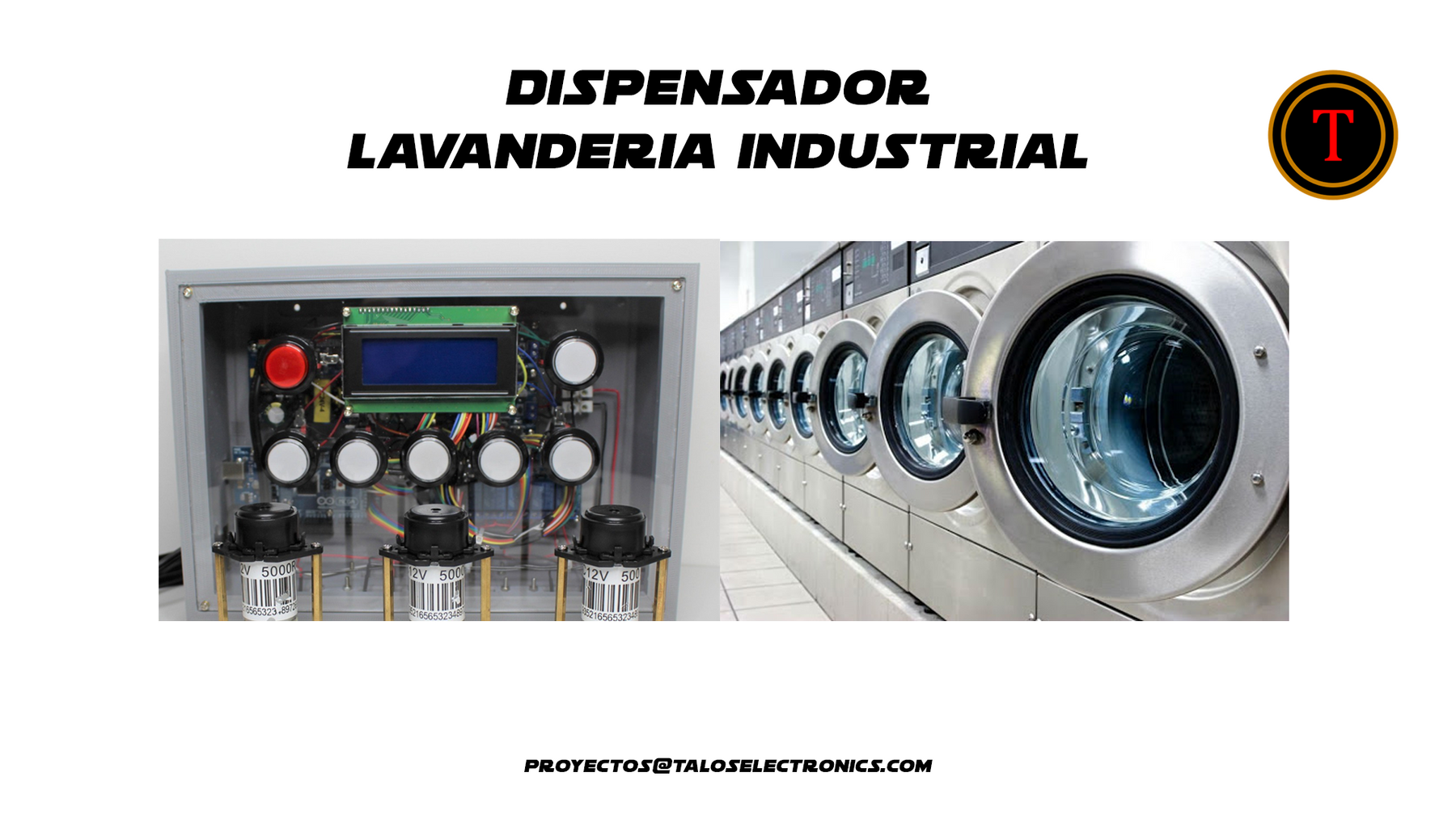 Dispensador lavandería industrial