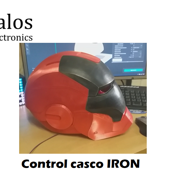 Control touch para casco IRON MAN