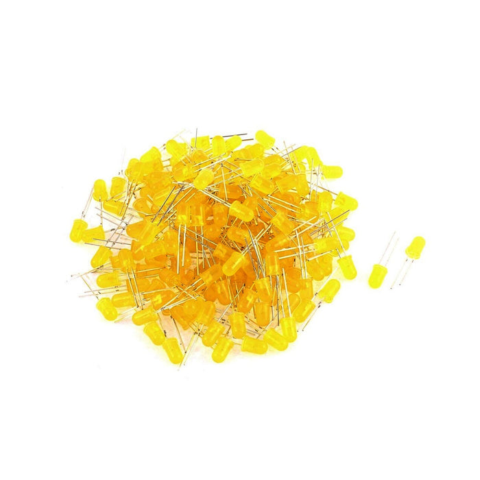 100 Leds difusos de 5mm Amarillo
