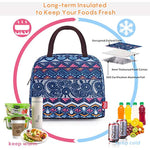 Lightweight Lunch Bags for Women Girls Wide Open Portable Women Lunch Box with Pocket Stylish Lunch Cooler Tote Bag for Adults Kids Work School Outdoor Travel