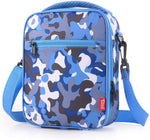 Kids' insulated lunch boxes - cute blue camouflage