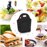 100% Waterproof Lunch Bag - Black with pocket