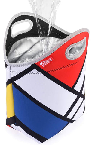 100% Waterproof Lunch Bag - Mondrian