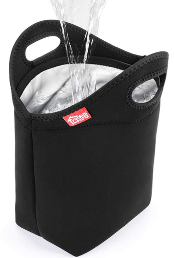 100% Waterproof Lunch Bag - Large Black