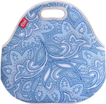 Insulated Lunch Bag - Small - Blue Paisely