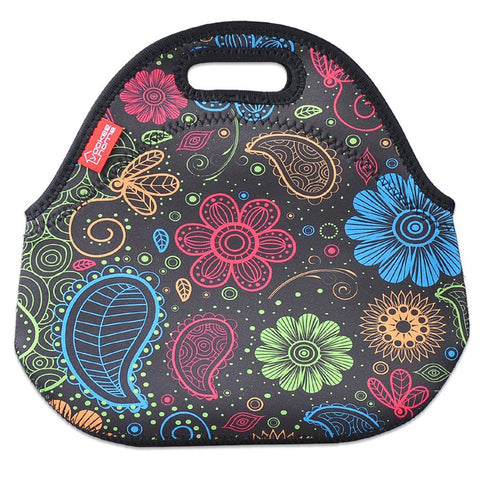 Insulated Lunch Bag - Small - Colorful Paisley