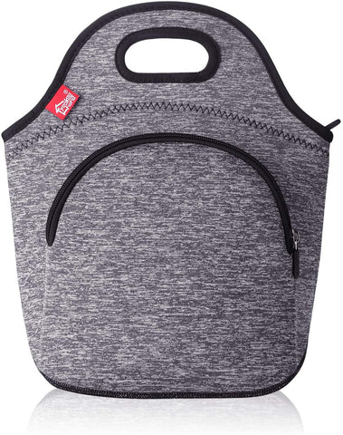 Insulated Lunch Bag - Small - Grey with pocket
