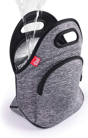 100% Waterproof Lunch Bag -Gray with pocket