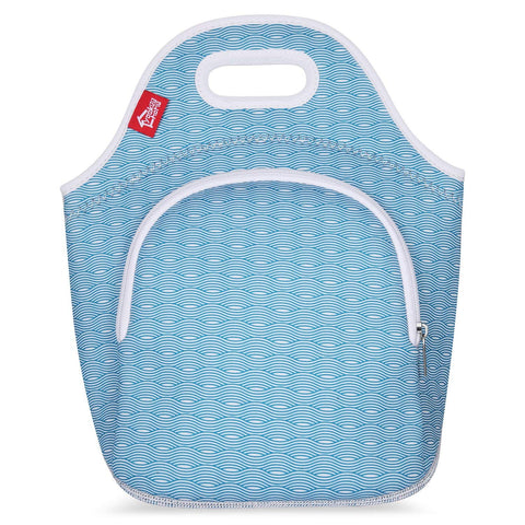 Insulated Lunch Bag - Small -Wave with pocket