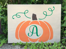 Pumpkin Name Sign