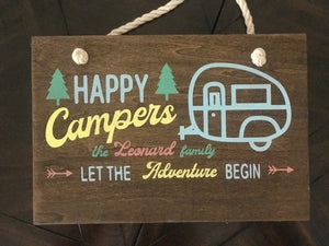 Happy Campers Wood Signs