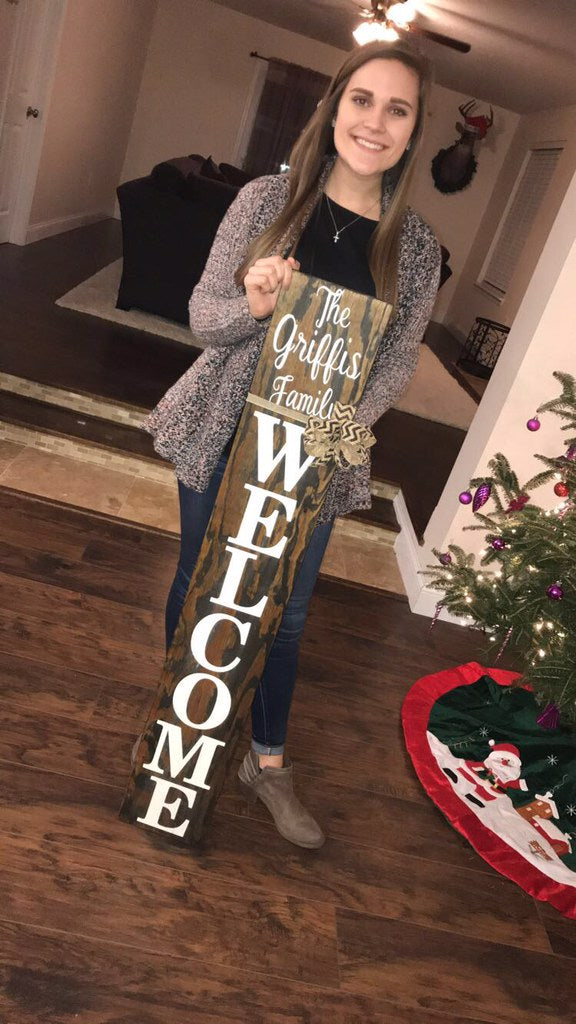 4 Foot Front Porch Welcome Sign