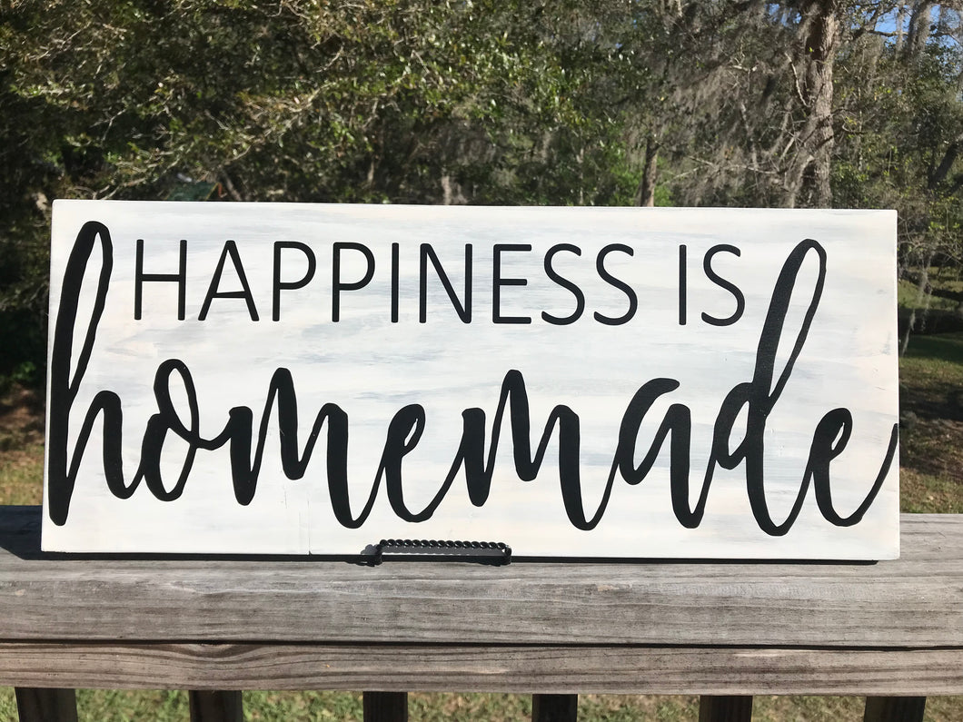 "11"" x 24"" Sign Happiness is Homemade"