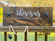 This is us Wood Sign with Hangers