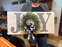 JOY Holiday Sign with Wreath