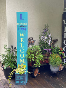 Front Porch Welcome Planter