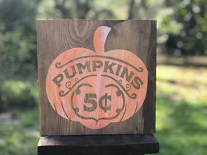 5 cent Pumpkins