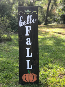 Hello Fall Welcome Porch Sign