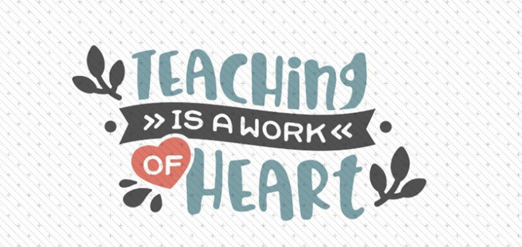 Teaching is a Work of Heart Wood Sign DIY