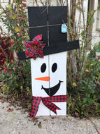 Snowman Porch Decor