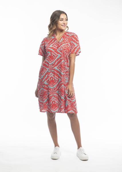 Orientique Short Sleeve Cotton Dress