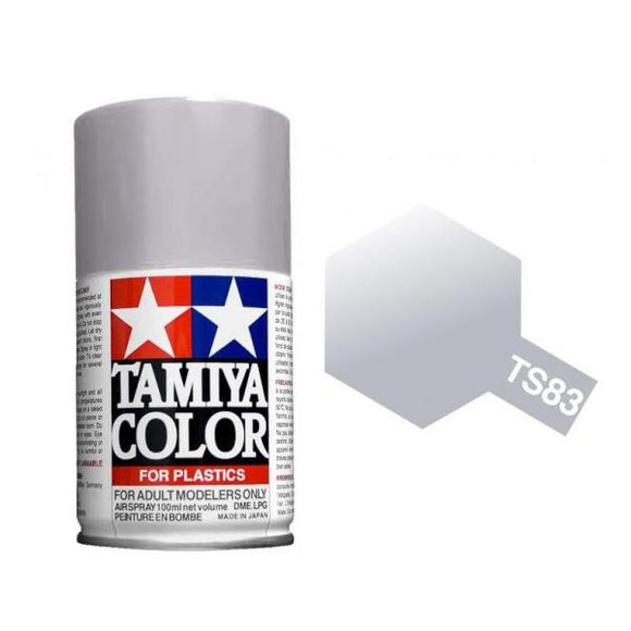 Tamiya Spray Paint (100mL) -- Metallic Silver (TS-83)