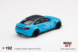 (Pre-Order) 1:64 BMW M4 LB WORKS -- Baby Blue -- Mini GT