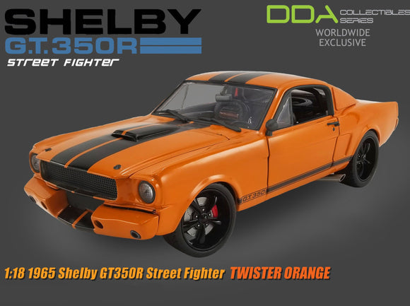 1:18 1965 Shelby GT350R Mustang -- Street Fighter -- Twister Orange -- ACME Ford