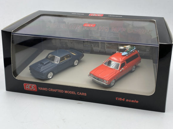 1:64 Mad Max -- HQ Holden Nightrider & HJ Holden Panel Van - Twin Set ACE Models