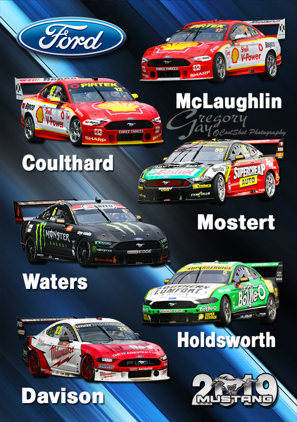 2019 Supercars Ford Mustang's --