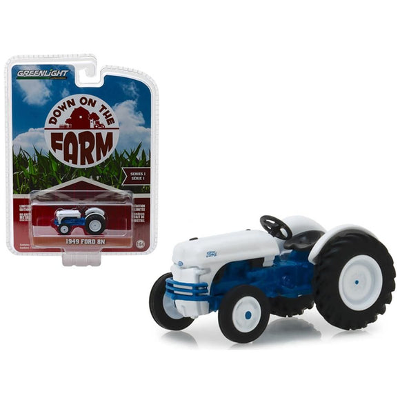 1:64 1949 Ford 8N Tractor Blue and White