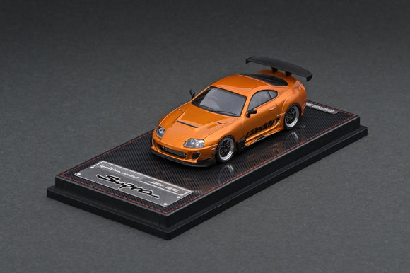 1:64 Toyota Supra JZA80 RZ - Orange Metallic GReddy Ver. - Ignition Model IG2238