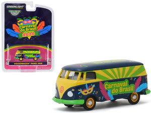 "1:64 Volkswagen Kombi Panel Van ""Carnaval do Brasil - 2020"" -- Greenlight"