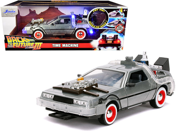 1:24 Back to the Future 3 w/Working Lights -- Delorean Time Machine -- JADA