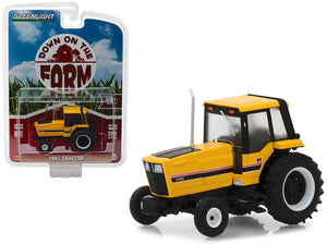 "1:64 1983 Tractor 3488 Yellow and Black w/Enclosed Cab ""Down on the Farm"" --  Greenlight"