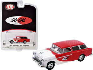 "1:64 1955 Chevrolet Bel Air Nomad ""So-Cal Speed Shop"" Red and White -- ACME Greenlight"